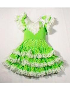 Vestido sevillana tres volantes niña