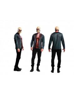 Camiseta esqueleto sangriento