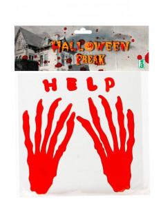 Pegatina manos sangrientas Help