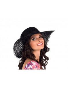 Sombrero de ala ancha mujer