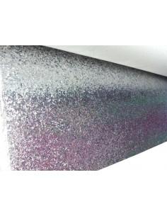 Tela de Polipiel Glitter Plata