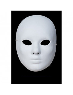 Máscara blanca de cartón