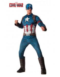 Disfraz de Capitán América Deluxe adulto