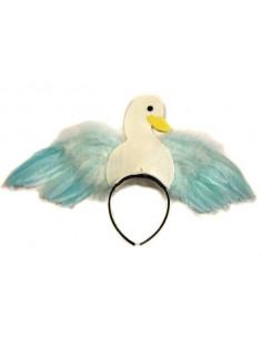 Diadema de cisne con plumas