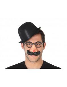 Set bombín, gafas y bigote de fiesta
