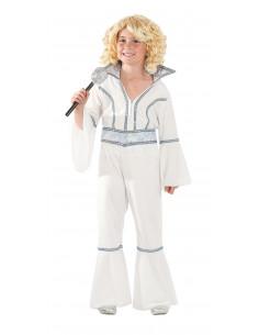 Disfraz abba niña blanco