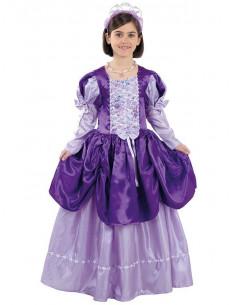 Disfraz princesa morada niña