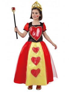 Disfraz reina de corazones niña
