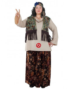 Disfraz hippie talla grande