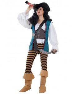 Disfraz pirata corsaria mujer
