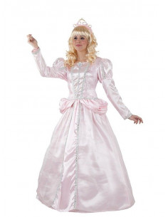 Disfraz princesa rosa mujer