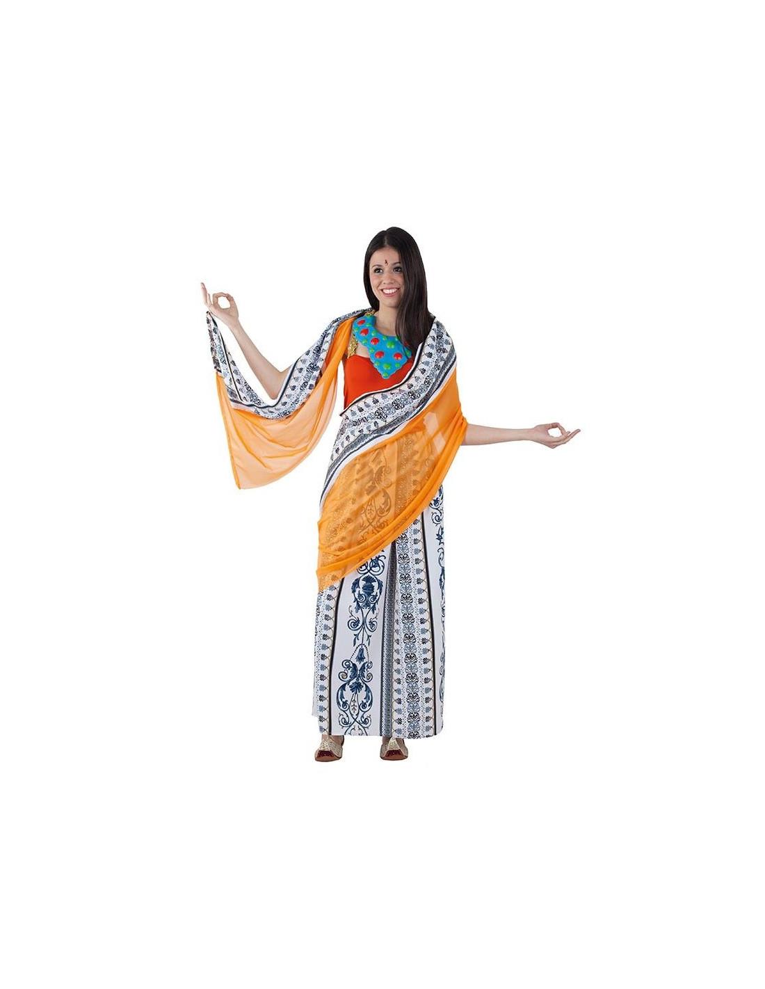 disfraz mujer hindu