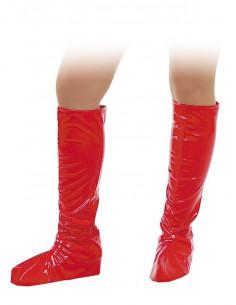 Cubrebotas rojos para adulto