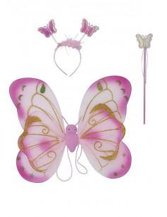 Set de mariposa rosa