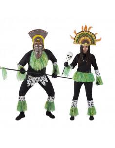 Disfraz en pareja de Zulúes Africanos