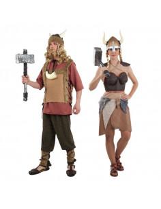 Disfraz en pareja de Vikingos