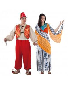 Disfraz en pareja de Aladino y Jasmín