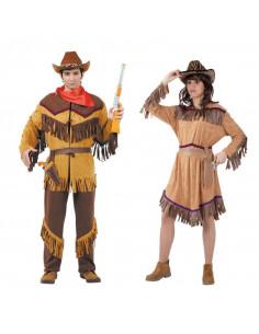 Disfraz en pareja de Vaqueros Farwest