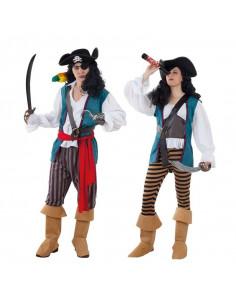 Disfraz en pareja de Piratas Corsarios