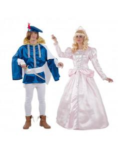 Disfraz en pareja de Príncipes de Dibujos