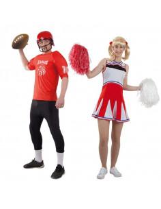 Disfraz en pareja de Quarterback y Animadora
