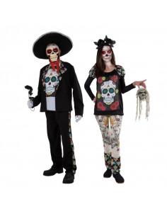 Disfraz en pareja de Catrines Mexicanos