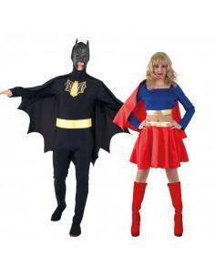 Disfraz en pareja de Superhéroes Económico