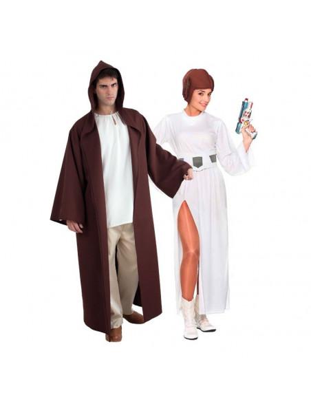 Disfraz en pareja de Jedi y Leia