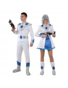 Disfraz en pareja de Galácticos azules