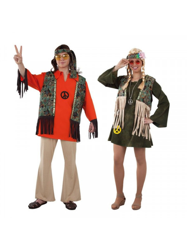 Disfraz en pareja de Hippies