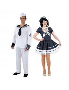 Disfraz en pareja de Marineros Clásicos