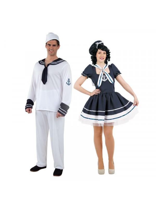 237a362ae Disfraz en pareja de Marineros Clásicos - Comprar en Disfraces Bacanal