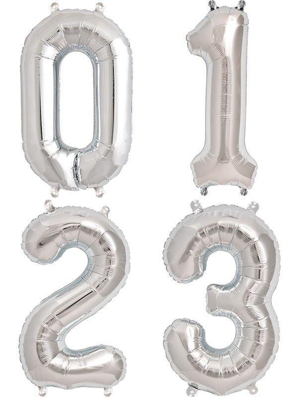 Globos numéricos metalizados