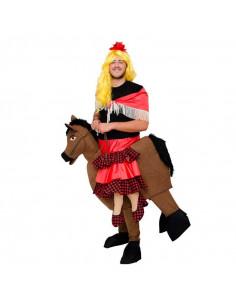 Disfraz de Flamenca sobre caballo