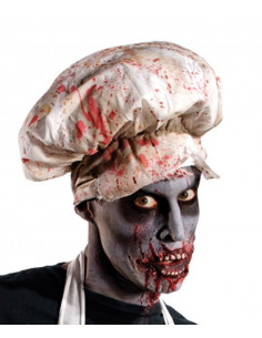 Gorro de cocinero zombie