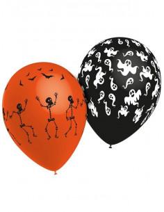 Globos Halloween estampados 50 unid