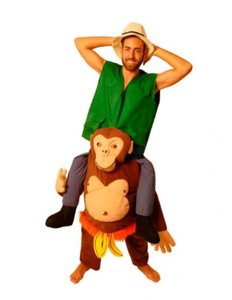 Disfraz de Explorador sobre chimpancé