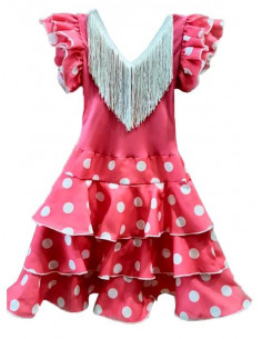 Vestido andaluza rosa para niña