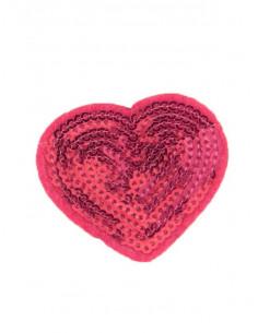 Aplique corazon de lentejuela