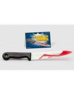 Cuchillo con sangre Halloween