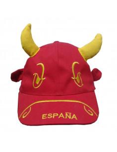 Gorra de España con cuernos