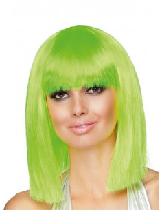 Peluca neon Dance verde