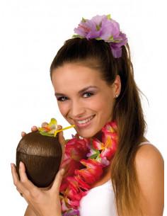 Copa de coco hawaiano
