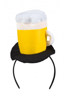 Diadema jarra de cerveza para mujer