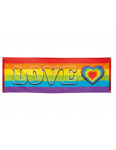 Pancarta Love Arco Iris