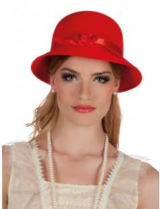 Sombrero años 20 rojo