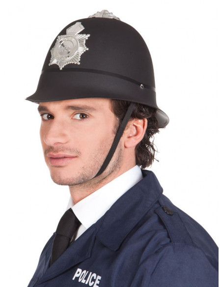 Casco policia bobby lateral