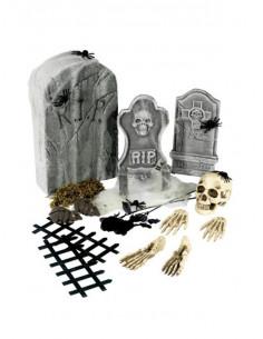 Set decoración Halloween cementerio