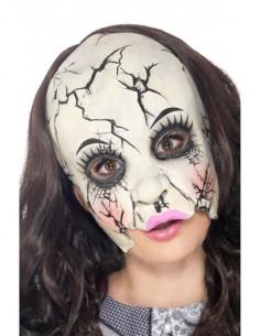 Máscara muñeca porcelana rota