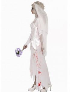 Disfraz zombie novia mujer